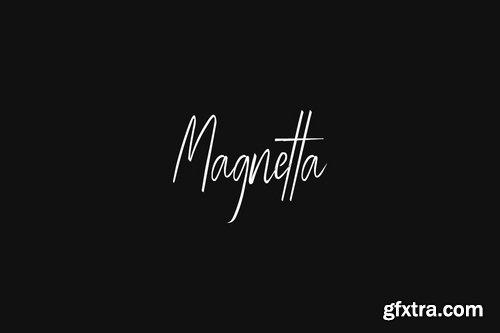 CM - Magnetta - Handwritten Luxury Signature Font 3854746