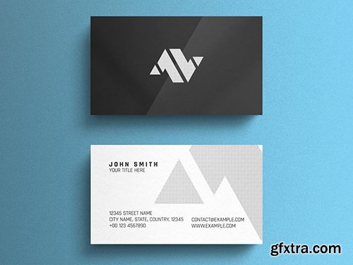 Black and White Corporate Business Card Layout 260559493
