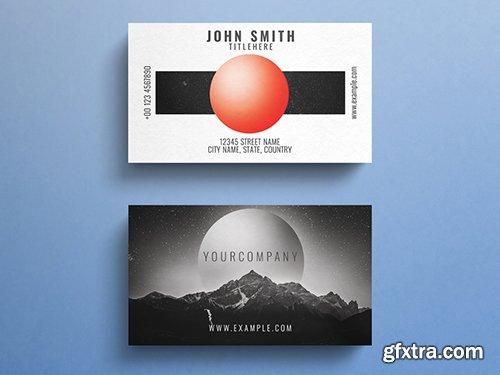 Business Card Layout with Outer Space Elements 264613596
