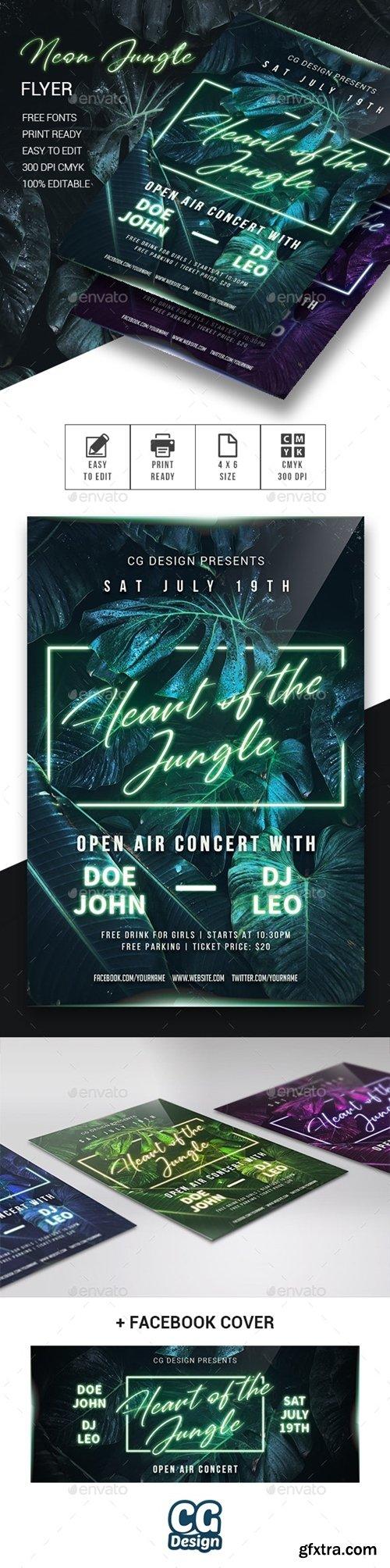 GraphicRiver - Neon Jungle Flyer 23969428
