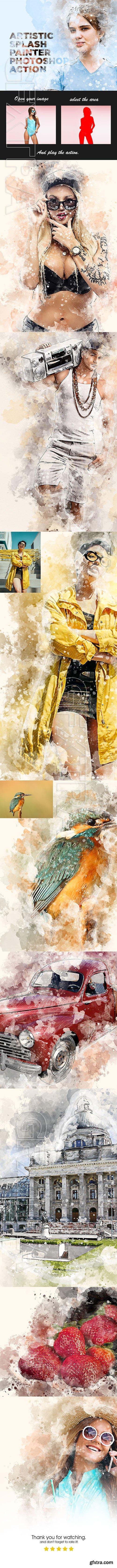 GraphicRiver - Artistic Splash Painter Photoshop Action 23842922