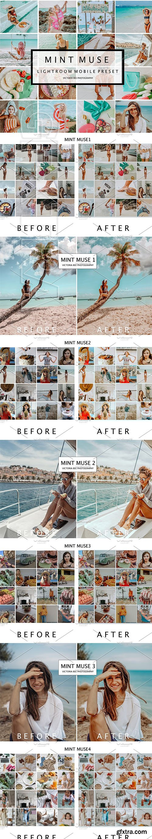 CreativeMarket - 5 Mobile Presets MINT MUSE 3852193