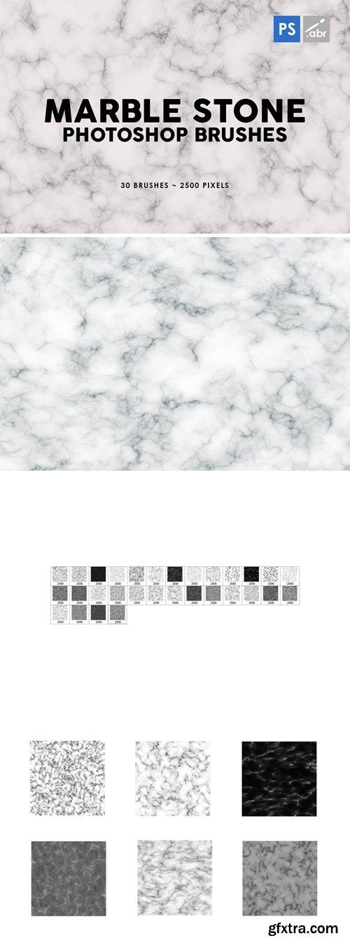 30 Marble Stone Photoshop Stamp Brushes