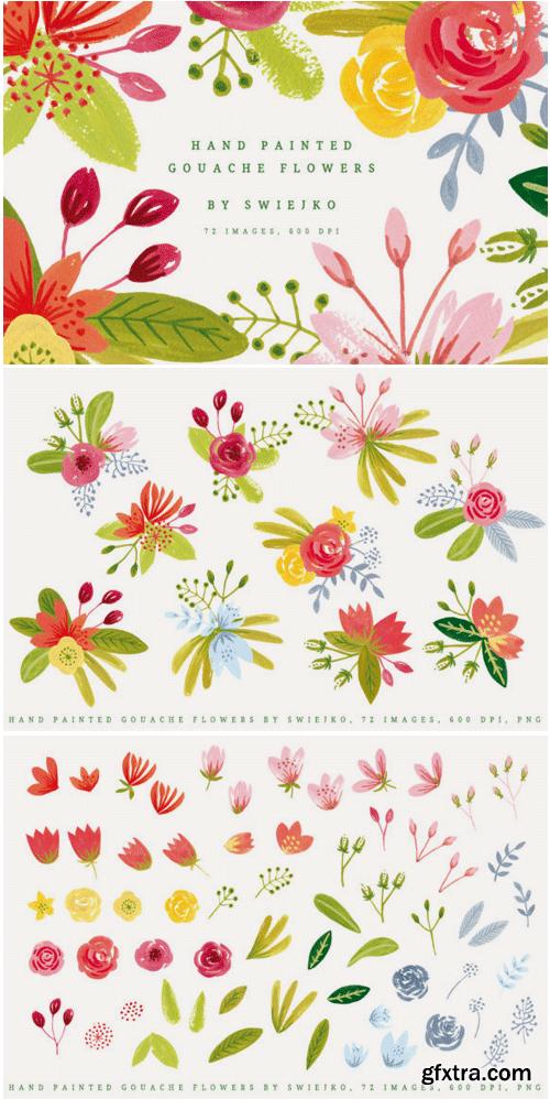 Simple Gouache Flowers 1495255