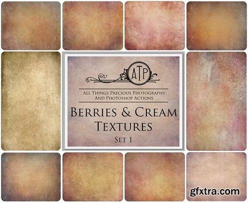 10 TEXTURES - Berries And CREAM Set 1 Overlays