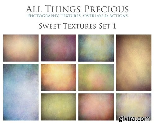 10 Digital SWEET TEXTURES Overlays Set 1