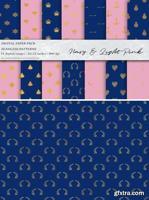 Gold Glitter Geometric Digital Papers 1495677