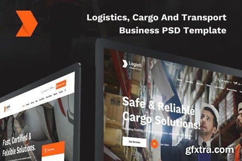 Logisti Logistics, Cargo & Transport PSD Template