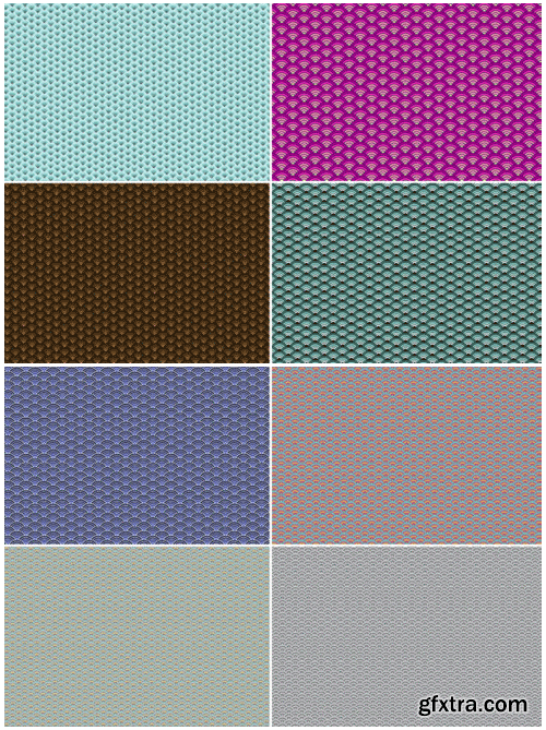 20 Seigaiha Background Textures 1495456