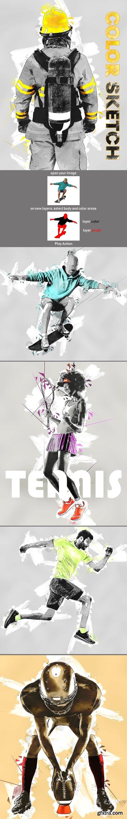 GraphicRiver - Color Sketch Photoshop Action 23978268