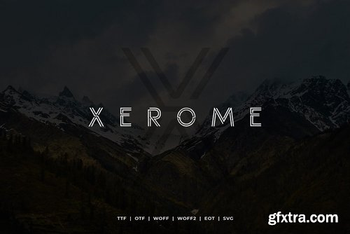CM - Xerome Display Typeface with Webfont 3855732