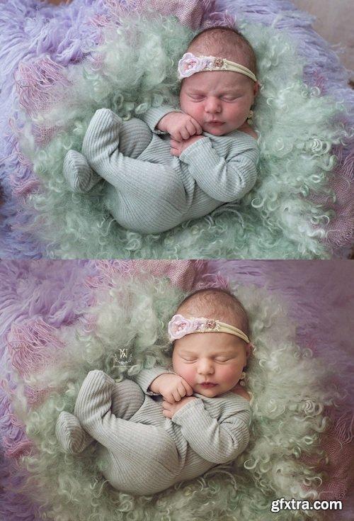 NewbornDigitalBackdrop - The Complete Set Photoshop Actions v2