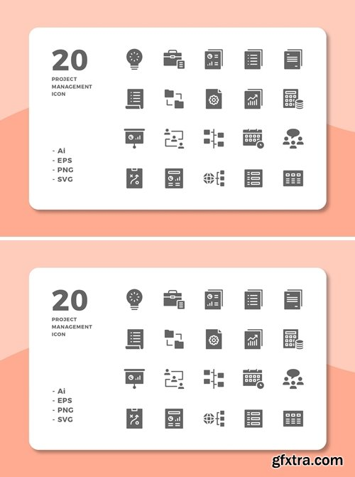 20 Project Management Icons (Solid)