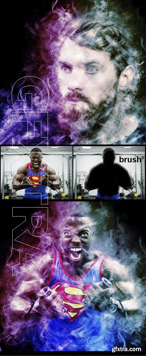 GraphicRiver - Amazing Colored Smoke Photoshop Action Vol 3 23881038