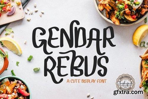 CM - Gendar Rebus - A Cute Display Font 3860947