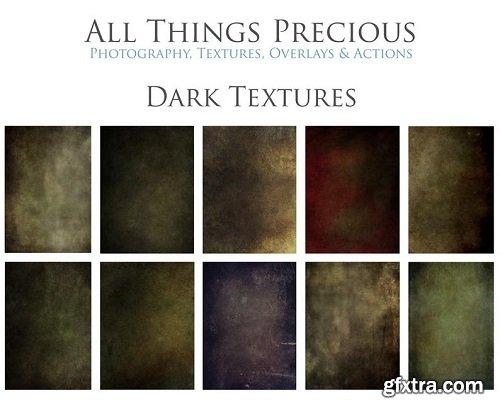10 High Res Fine Art Digital DARK Overlays / Textures Set 1