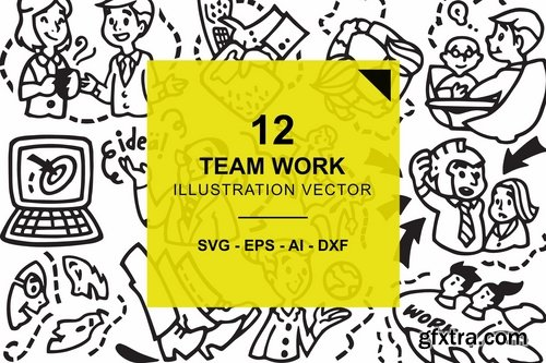 Team Work Illustration Vector