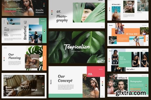 Tropicalism Creative - Powerpoint Google Slides and Keynote Templates