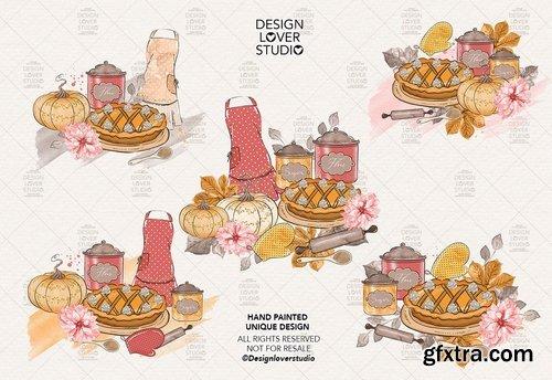 Pumpkin Pie digital design and paper pack