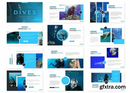 Dives - Powerpoint Google Slides and Keynote Templates