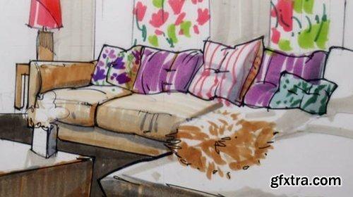 CreativeLive - Draw like an Interior Designer
