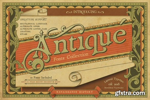 MightyDeals 5 Popular Vintage Font Families