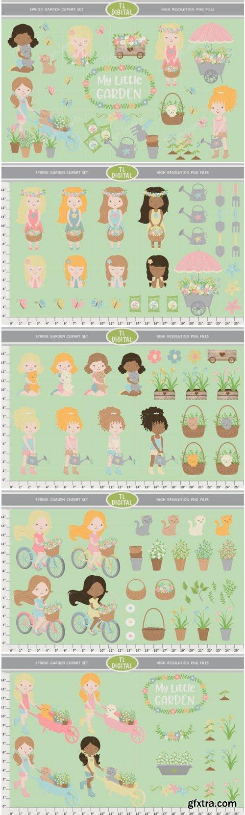 Spring Garden Clipart Set 1498479