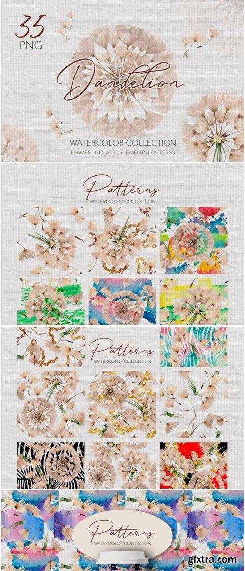 Summer Dandelion Collection Watercolor 1498355