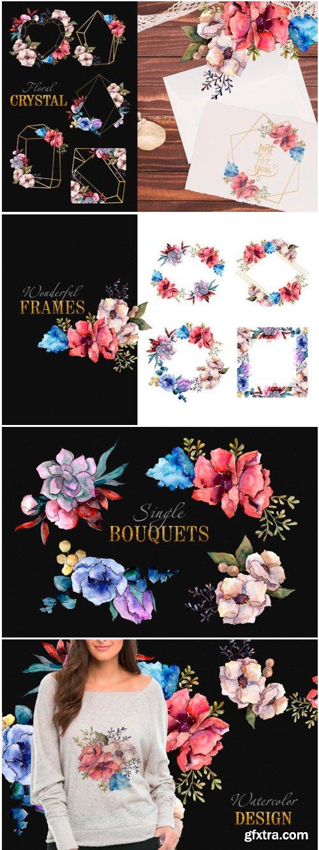 Bouquet Breath of Tenderness Watercolor 1498287