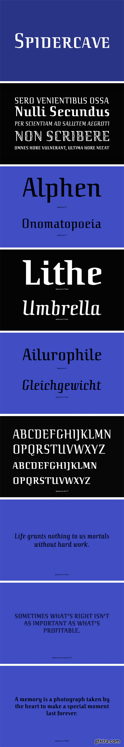 Spidercave Font Family