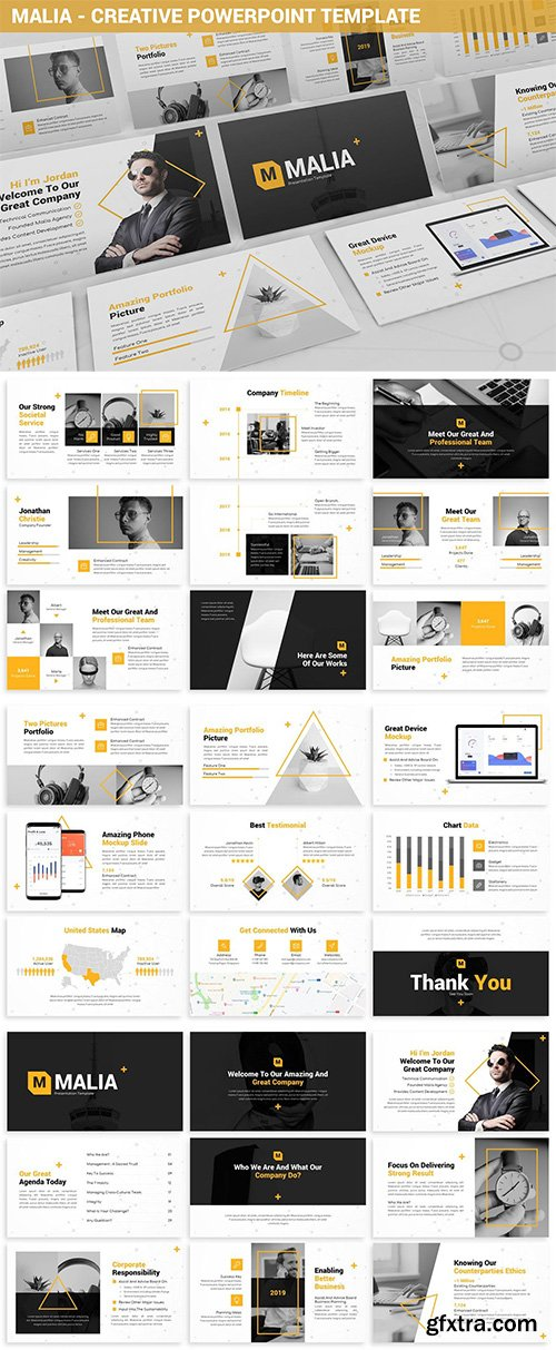 Malia - Creative Powerpoint Template