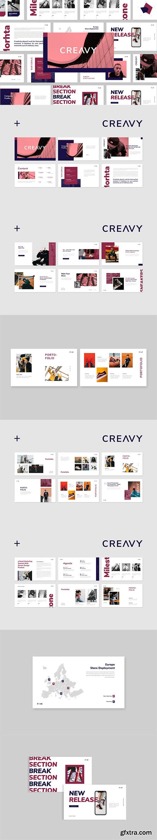Creavy Powerpoint, Keynote and Google Slides Templates