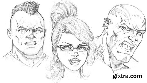Drawing Comic Style Faces Using Traditional Art Supplies