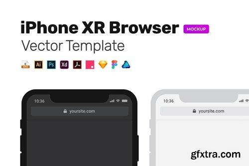 Dark/Light Mobile Browser MockUp – Vector Template