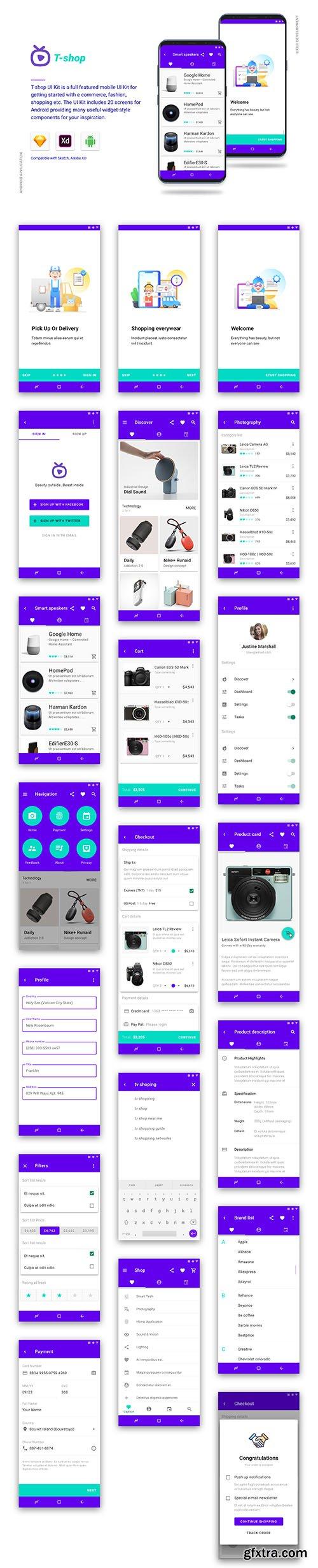T-shop UI Kits