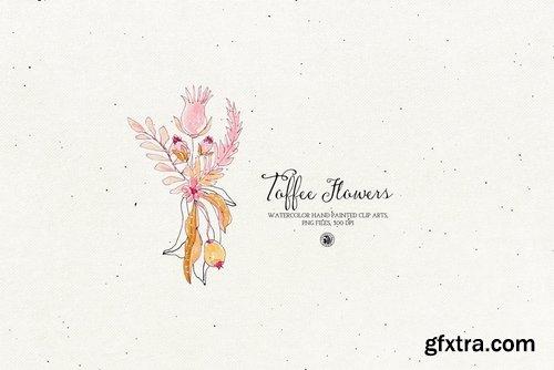 Watercolor Toffee Flowers