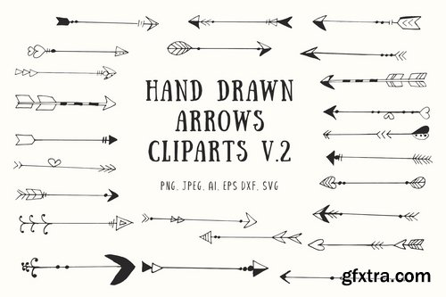 25+ Handdrawn Arrows Clipart Ver. 2