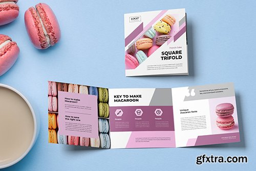 Square Trifold Cookies Brochure