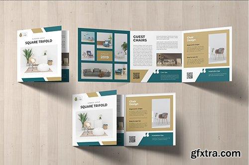 Square Trifold Furniture Brochure