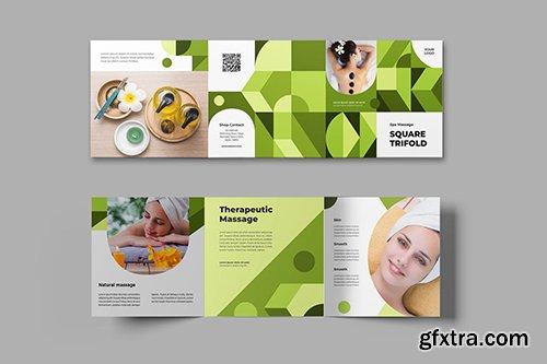 Square Trifold Spa Massage Brochure