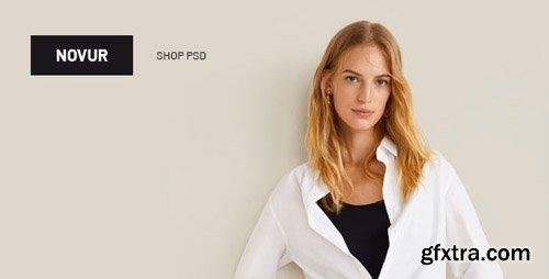 ThemeForest - Novur v1.0 - Shop PSD Template - 23276887
