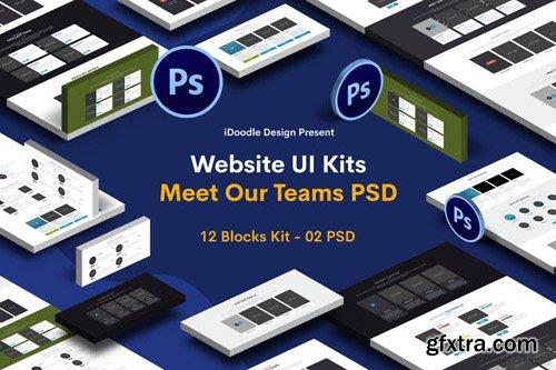 Website UI Kits Meet Our Teams
