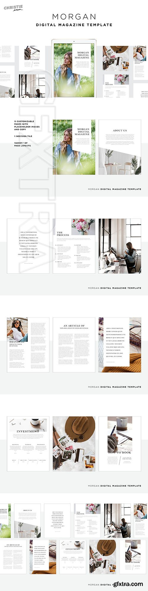 CreativeMarket - Morgan Digital Magazine Template 3736883
