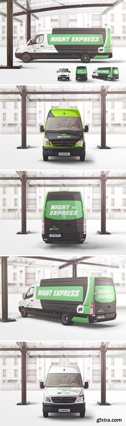 Van Vehicle Branding Mockup