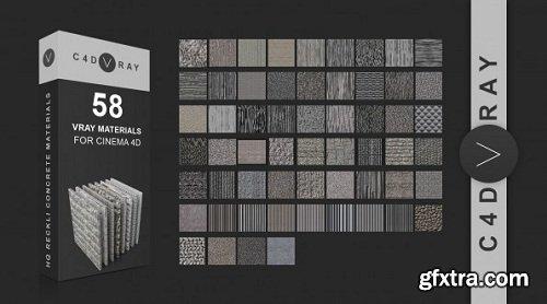 C4DVRAY - 58 Vrayforc4d Reckli Concrete Material Library