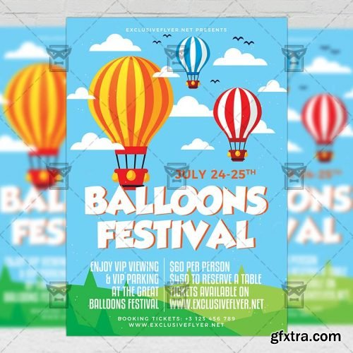 Balloons Festival Flyer – Club A5 Template