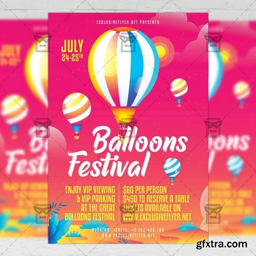 Festival of Balloons Flyer – Club A5 Template