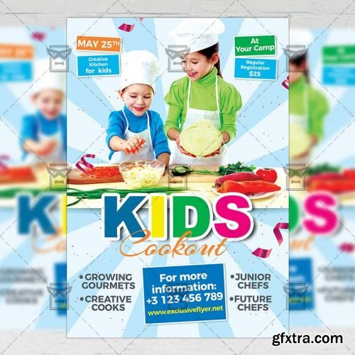 Kids Cookout Flyer – Kids A5 Template