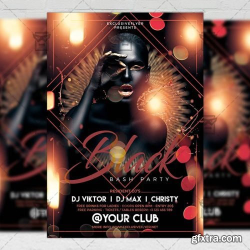 Black Bash Party Flyer – Club A5 Template
