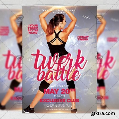 Twerk Battle Flyer – Club A5 Template